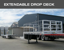 Extendable drop deck