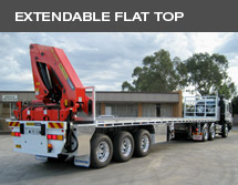 Extendable flat top